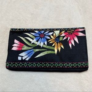 •new• Embroidered Silk Wallet